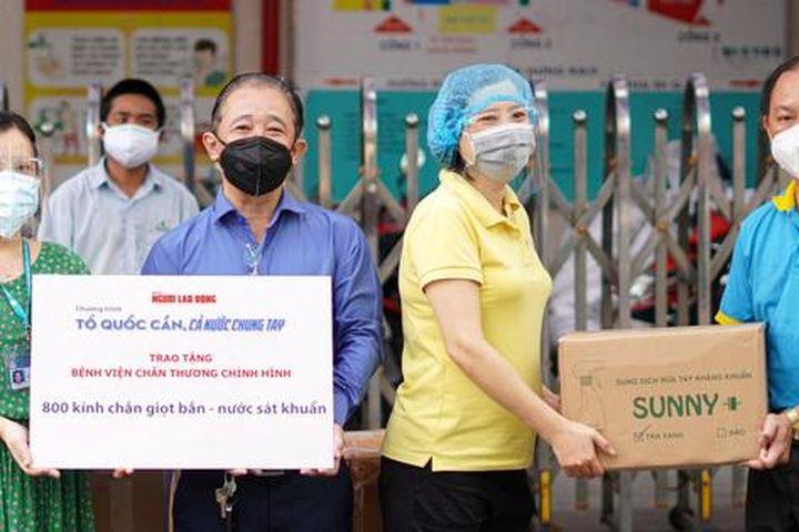 Mang tin vui đến Bệnh viện Chấn thương Chỉnh hình TP HCM - Báo Người Lao Động