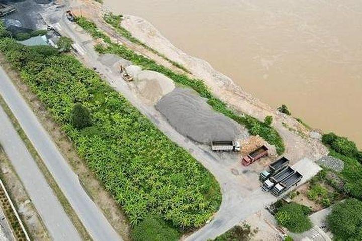 Xây dựng bến bãi trái phép doanh nghiệp bị xử phạt 250 triệu đồng - Báo Pháp Luật Việt Nam