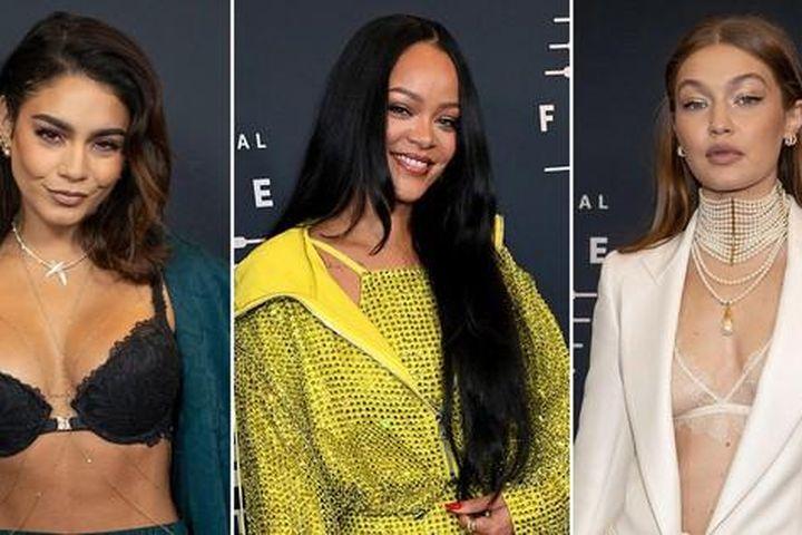 Gigi Hadid mặc nội y xuyên thấu 'chặt chém' loạt sao hở bạo tại show của Rihanna - Báo Tiền Phong