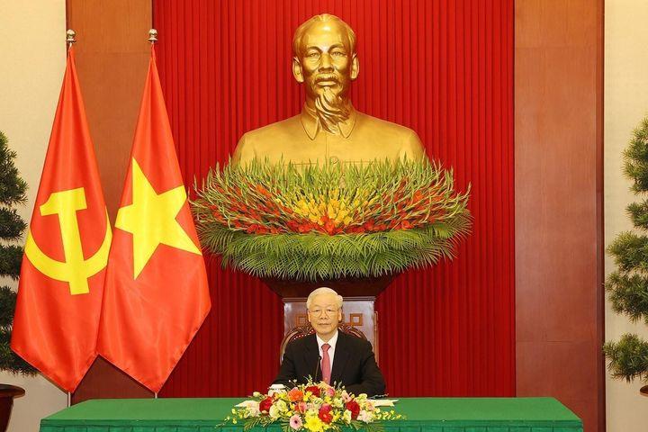 Tổng Bí thư Nguyễn Phú Trọng điện đàm với ông Tập Cận Bình - Báo VietnamPlus