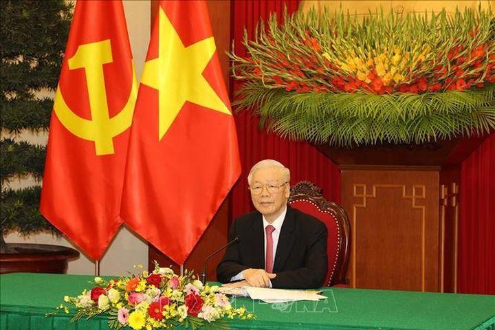 Tổng Bí thư Nguyễn Phú Trọng điện đàm với Tổng Bí thư, Chủ tịch nước Trung Quốc Tập Cận Bình - Báo Tin Tức TTXVN