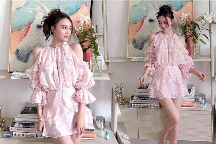 Ninh Dương Lan Ngọc khiến fan lịm tim vì quá điệu với váy hồng bánh bèo khoét vai - SaoStar