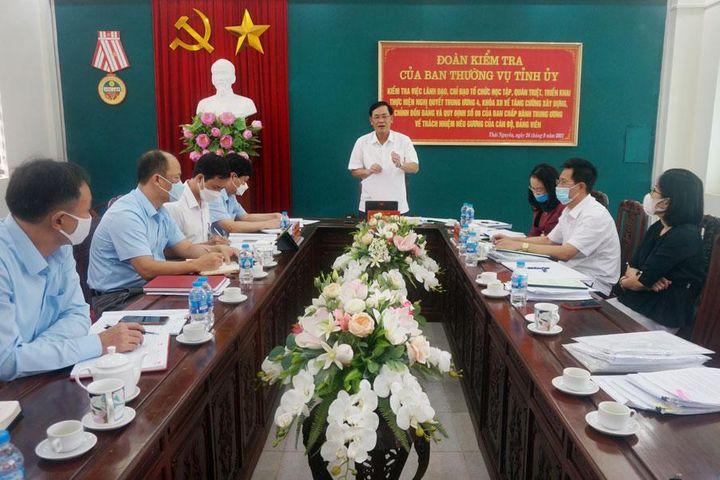 Đề cao trách nhiệm nêu gương của cán bộ, đảng viên, đặc biệt là người đứng đầu - Thái Nguyên