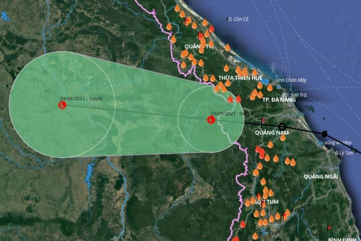 Bão số 6 suy yếu thành vùng áp thấp, mưa lớn ở các tỉnh miền Trung - Báo VOV