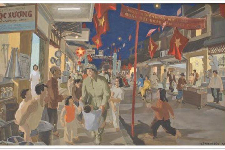 Sống lại ký ức ''Hà Nội đêm giải phóng'' bằng tác phẩm hội họa - Báo Kinh Tế Đô Thị