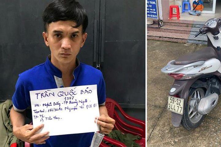 Lần theo định vị, Công an TP Hồ Chí Minh bắt giữ đối tượng trộm xe máy SH - Báo Tin Tức TTXVN