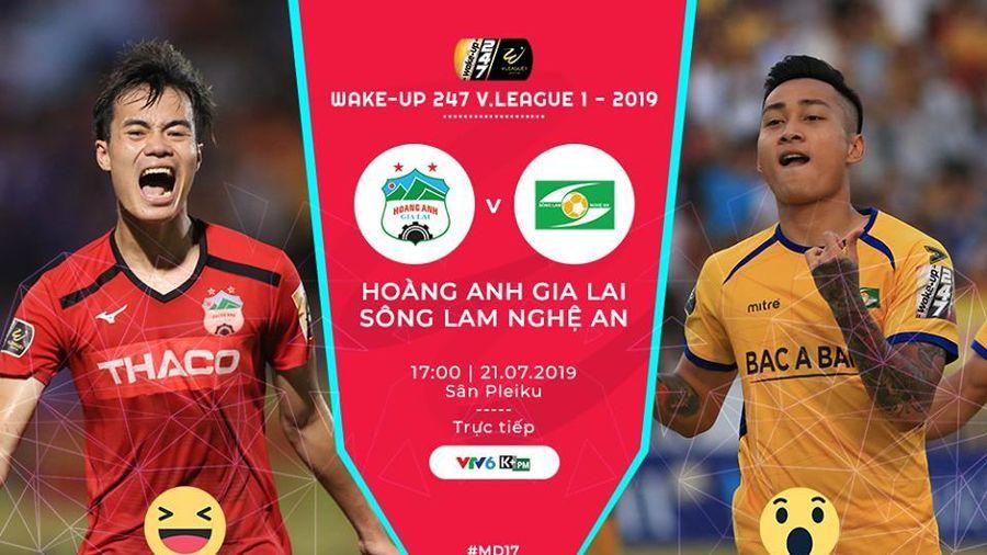 Trực tiếp HAGL vs SLNA vòng 17 V-League 2019