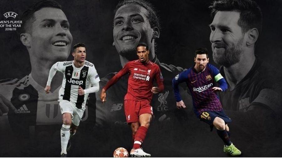 Cầu thủ xuất sắc nhất UEFA 2019: Van Dijk đấu Ronaldo và Messi
