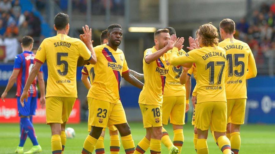 Siêu sao rực sáng, Barca đánh bại Eibar, tạm chiếm ngôi đầu