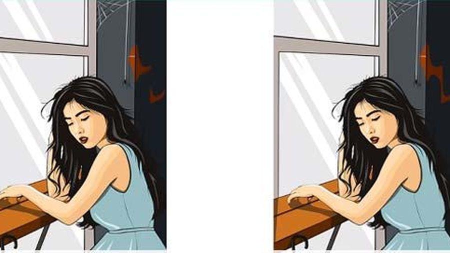 Hãy tìm điểm khác biệt giữa 2 bức tranh