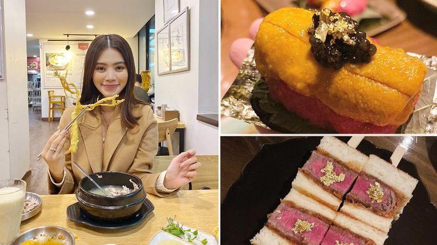 Theo chân rich-kid Jolie Nguyễn ăn uống sương sương ở Seoul, lạ lẫm nhất là món bò Wagyu ăn kèm trứng cá dát vàng