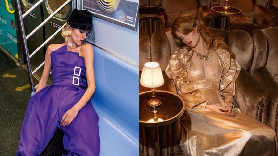 Người mẫu diện đồ hiệu Chanel, Dior ngủ gục khắp mọi nơi