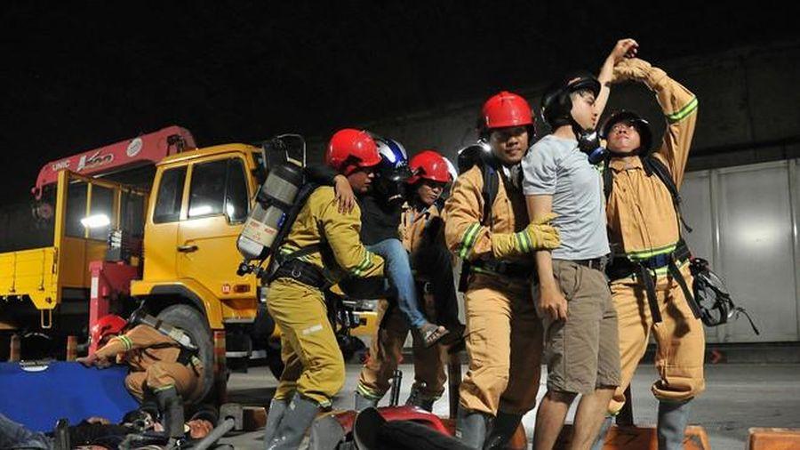 Diễn tập xử lý tình huống an ninh tại sân bay Tân Sơn Nhất
