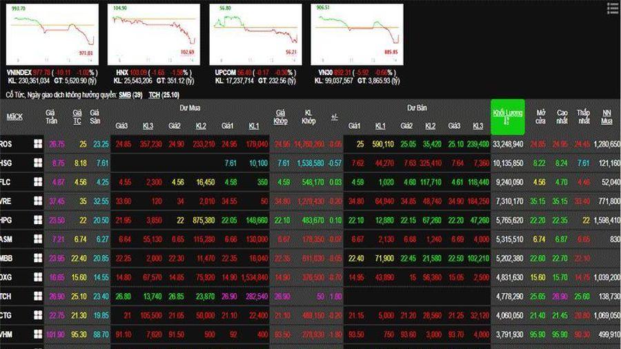 Phiên 22/11: VN30 bị bán quá đà, VN-Index tiếp tục lao dốc