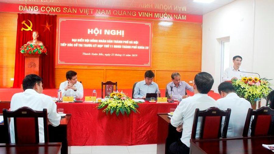 Cử tri quận Thanh Xuân kiến nghị giải quyết mẫu thuẫn trong chung cư