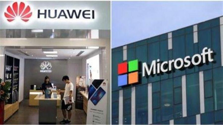 Mỹ để Microsoft bán phần mềm cho Huawei
