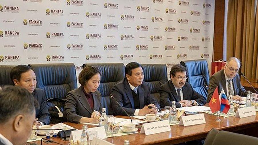 Tăng cường hợp tác đào tạo cán bộ quản lý nhà nước giữa Việt Nam và LB Nga