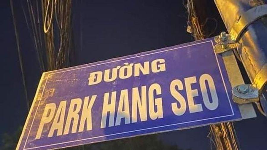 Tháo tấm biển 'đường Park Hang Seo' ở quận 9