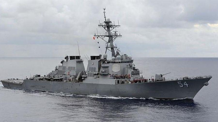 Tàu chiến Mỹ xuất hiện ở khu vực có tranh chấp ở biển Đông, Trung Quốc nói gì?