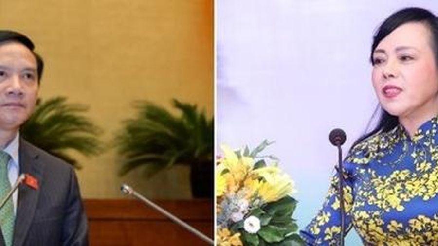 Quốc hội miễn nhiệm ông Nguyễn Khắc Định và bà Nguyễn Thị Kim Tiến