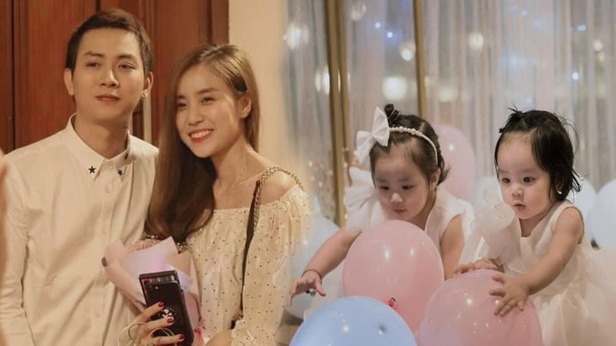 Dân mạng phát 'sốt' với gương mặt hai con gái của Hoài Lâm