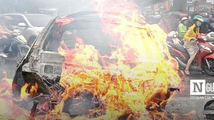 Toàn cảnh vụ nữ tài xế Mercedes đâm xe bốc cháy ngùn ngụt, nhiều người thương vong