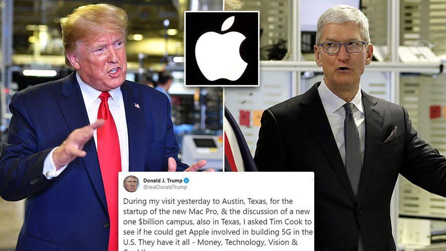 Tổng thống Trump muốn Apple tham gia xây dựng mạng 5G cho Hoa Kỳ