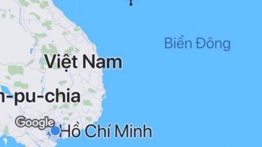 Vì sao bản đồ trên GoViet không có Trường Sa, Hoàng Sa?