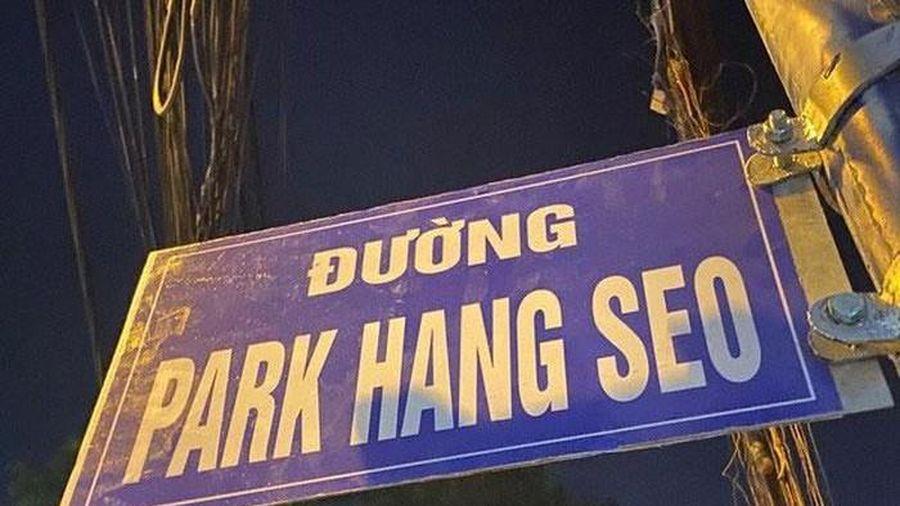 Gỡ biển đường mang tên HLV Park Hang-seo ở quận 9