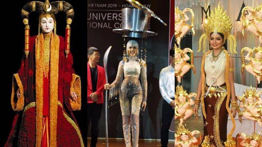 Trang phục dân tộc của đối thủ Hoàng Thùy ở Miss Universe 2019 toàn siêu phẩm đi liền với tuyệt tác