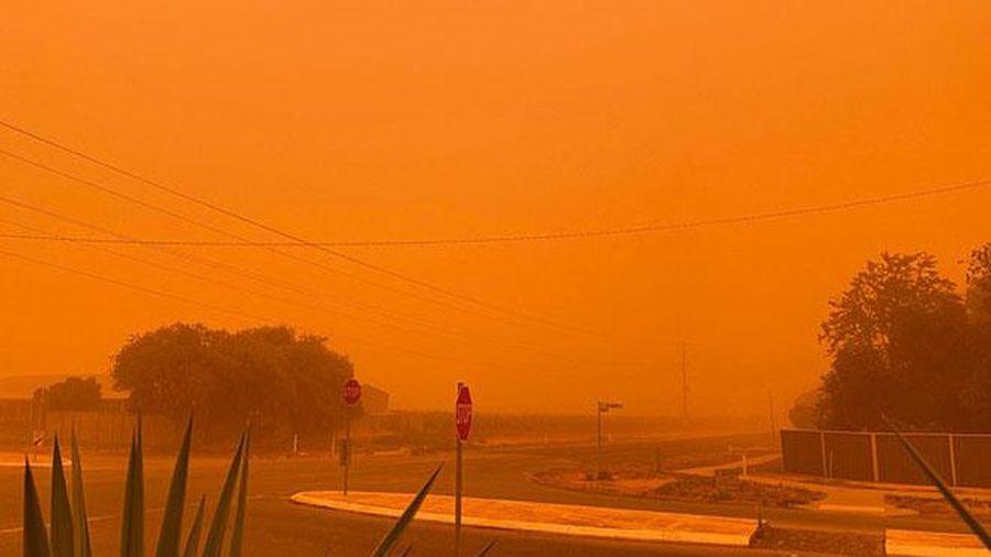 Cháy rừng dữ dội khiến bầu trời chuyển đỏ cam, ngập trong khói mù ở Australia