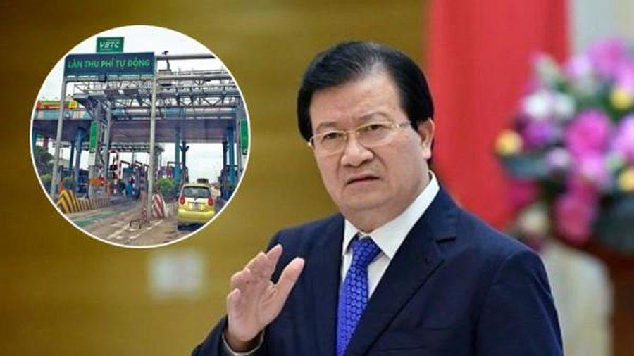 Phó thủ tướng yêu cầu Bộ GTVT báo cáo tiến độ thu phí không dừng trước ngày 31/11