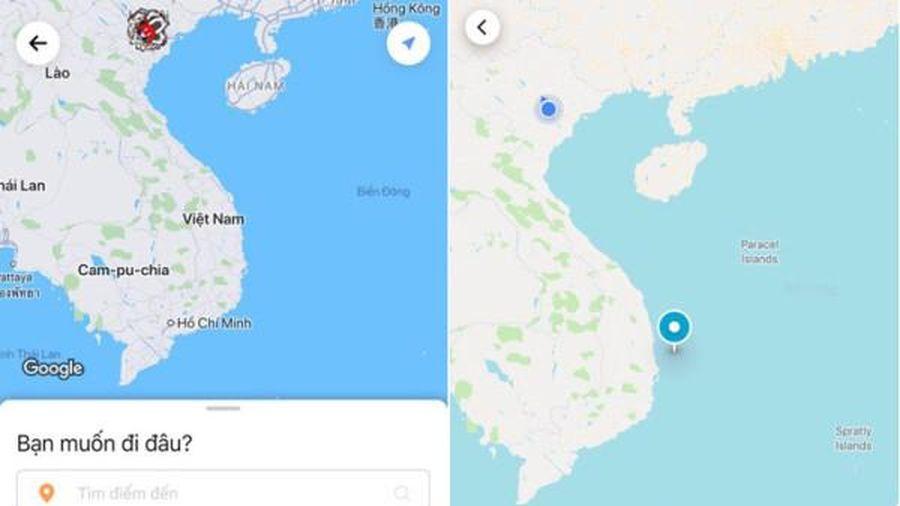Hoàng Sa, Trường Sa biến mất khỏi bản đồ trên ứng dụng gọi xe Go-Viet