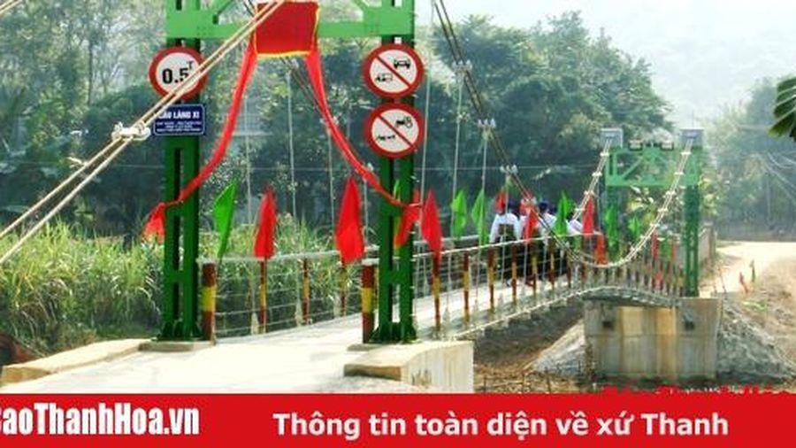 Công ty CP Nhựa Thiếu niên Tiền Phong khánh thành cầu làng Xi, xã Lương Trung (Bá Thước)
