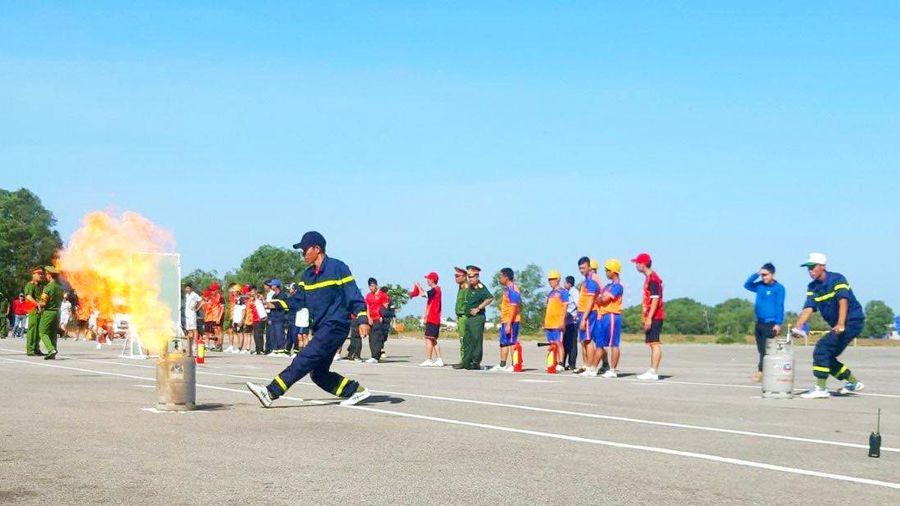 Huyện đảo Phú Quốc tổ chức hội thao kỹ thuật chữa cháy và cứu nạn cứu hộ