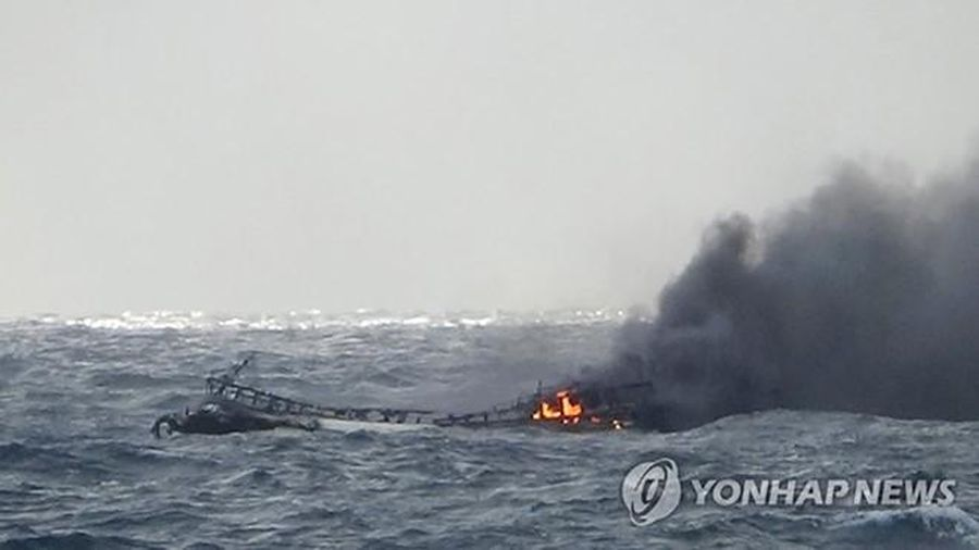 Có 5 lao động người Quảng Bình bị nạn trong vụ cháy tàu cá ở Hàn Quốc