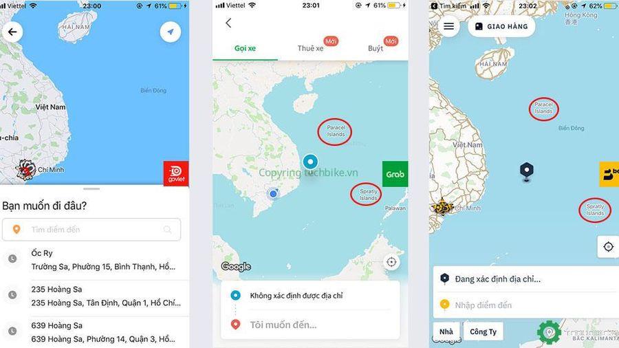 Hoàng Sa, Trường Sa biến mất khỏi bản đồ Việt Nam trên app, Go-Viet xin lỗi