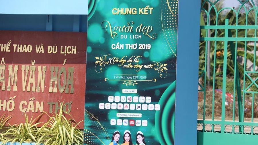 Cuộc thi 'Người đẹp du lịch Cần Thơ năm 2019' tự tiện in logo VTC News ở vị trí bảo trợ truyền thông