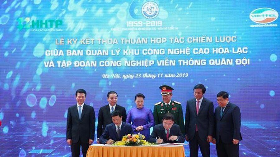 Ban Quản lý khu công nghệ cao Hòa Lạc và Viettel hợp tác chiến lược
