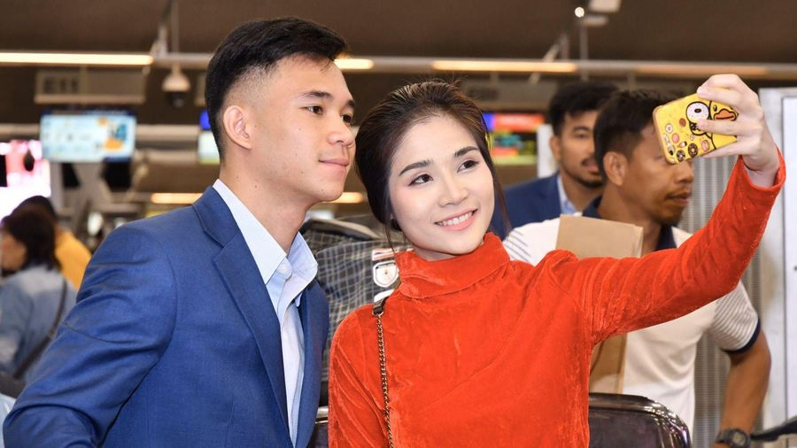 U-22 Thái Lan đến Manila thiếu 'sát thủ' Ekanit Panya