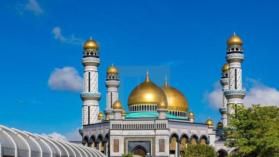 Nhà thờ Hồi giáo dát 5 tấn vàng ở Brunei