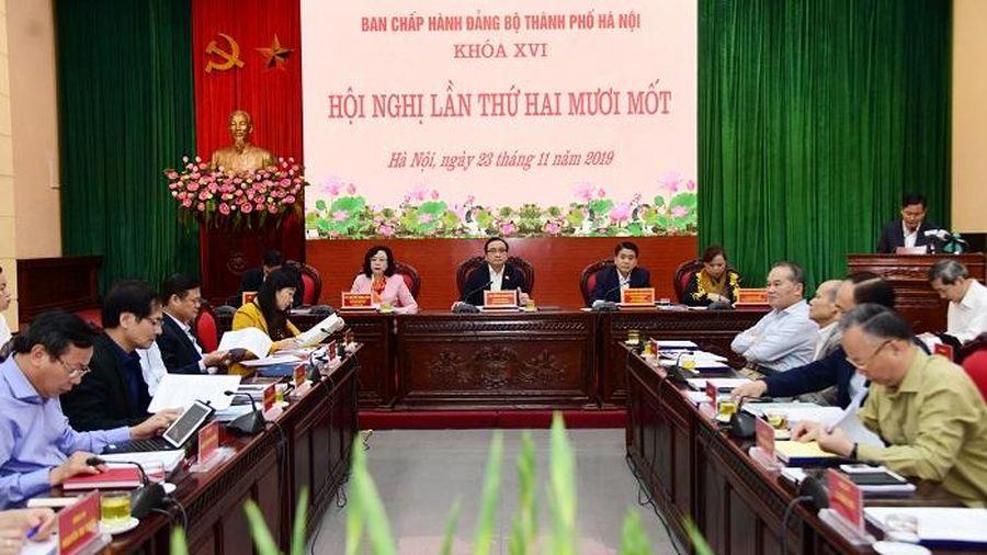 Hội nghị lần thứ hai mươi mốt Ban Chấp hành Đảng bộ TP Hà Nội: Thảo luận nhiều nội dung quan trong phát triển kinh tế - xã hội
