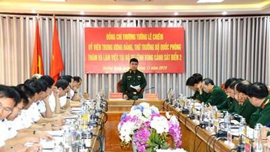 Thượng tướng Lê Chiêm thăm và làm việc tại Bộ tư lệnh Vùng Cảnh sát biển 2