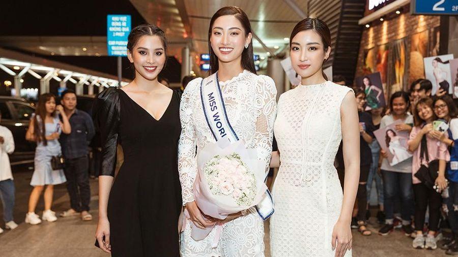 Lương Thùy Linh và dàn Hoa hậu đính đám làm 'náo loạn' sân bay lúc nửa đêm