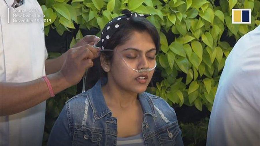 Ô nhiễm đỉnh điểm, không khí sạch ở New Delhi được bán với giá 'trên trời'