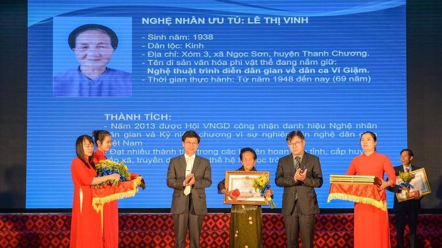 Nghệ An có thêm 26 người được phong tặng danh hiệu Nghệ nhân ưu tú