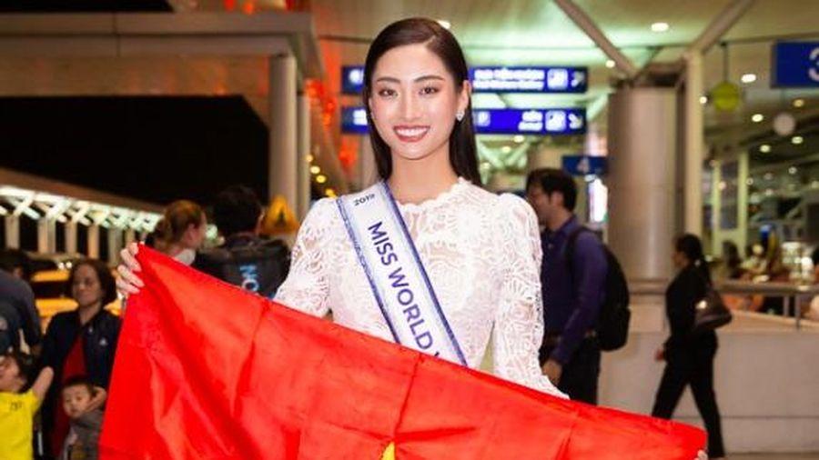Hoa hậu Lương Thùy Linh lên đường đi Anh dự thi Miss World trễ 2 ngày vì trục trặc visa