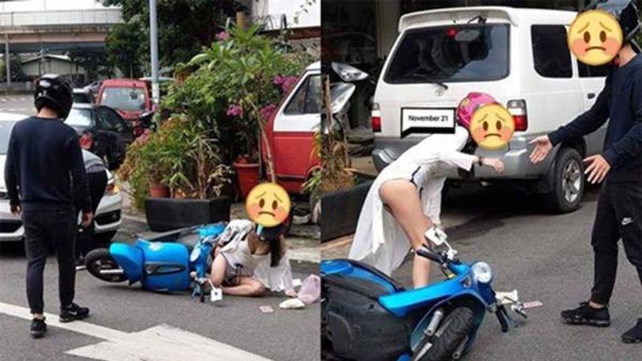 Cô gái trẻ 'phơi' vòng 3 trên phố nhưng khi biết lý do dân mạng lại bày tỏ thương cảm