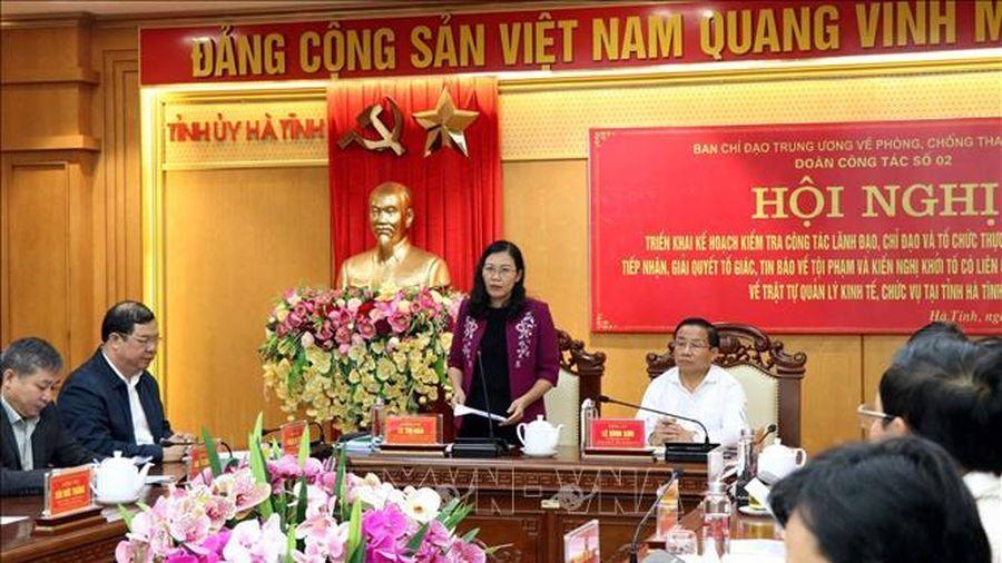 Đoàn công tác Ủy ban Tư pháp của Quốc hội làm việc tại Hà Tĩnh