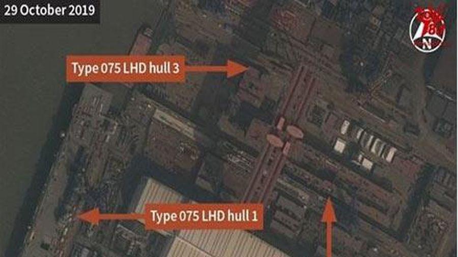 Lộ bằng chứng Trung Quốc chế tạo tàu Type 075 thứ ba